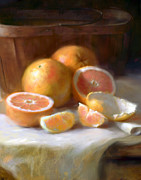 Grapefruit Painting Prints - Grapefruit Print by Robert Papp