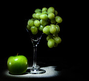 Apple Martini Posters - Grapes Poster by Cecil Fuselier