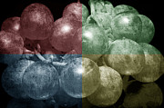 Food And Beverage Photo Originals - Grapes in Quadrant Color by Tommy Hammarsten