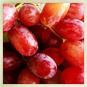 Closeup Photo Posters - Grapes Poster by Les Cunliffe