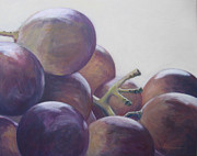 White Grape Paintings - Grapes No.14 by Kazumi Whitemoon