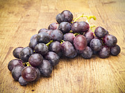 Cluster Prints - Grapes on Wood Print by Wim Lanclus