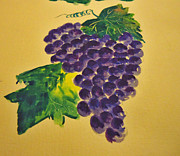 Fermentation Painting Prints - Grapes Print by Shakhenabat Kasana