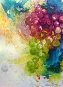 Bunch Of Grapes Painting Framed Prints - Grapes Framed Print by Valerie Greene