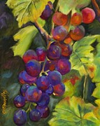 Grape Vineyard Painting Framed Prints - Grapevine Framed Print by Chris Brandley