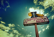 Sign Photos - Grapevine Flower Mart by Jeff Klingler