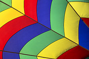 Ballooning Posters - Graphic hot air balloon detail Poster by Garry Gay