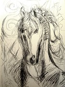 Frederick Luff Prints - Graphite Stallion Print by Luff  Gallery