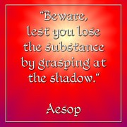 Morals Posters - Grasping at the shadow Aesop 2 Poster by Rose Santuci-Sofranko
