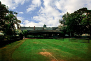 Tennis Court Framed Prints - Grass Courts at the Hall of Fame Framed Print by Michelle Calkins