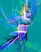 Vivacious Digital Art - Grass Dancer by Jeanne Liander