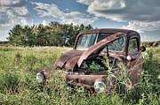 Rusted Cars Framed Prints - Grass Roots Framed Print by Matt Dobson