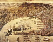 Genoa Framed Prints - Grassi, Cristoforo 16th C.. Port Framed Print by Everett
