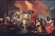 River Jordan Prints - Grassi Nicola, Baptism Of Christ, 18th Print by Everett