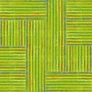 Layered Prints - Grassy Green Stripes Print by Michelle Calkins