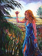 Woman In A Dress Posters - Grassy Key Reality Poster by Susi LaForsch