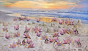 Sand Castles Metal Prints - Grateful Holiday Metal Print by Betsy A Cutler East Coast Barrier Islands