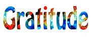 Gratitude 2 - Inspirational Art Print by Sharon Cummings