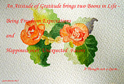 Quotation Painting Prints - Gratitude Print by Geeta Biswas