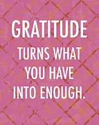 Gratitude Print by Marianne Beukema