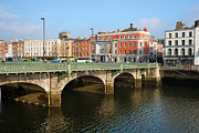 Eire Framed Prints - Grattan Bridge in Dublin Framed Print by Artur Bogacki