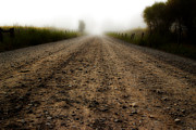 Gravel Road Photos - Gravel Road And Fog by Michael Eingle