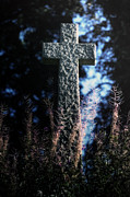 Cross Photo Metal Prints - Gravestone Metal Print by Joana Kruse