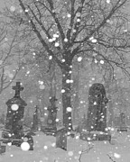Snow Digital Art - Graveyard In Winter by Gothicolors And Crows