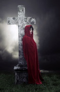Creepy Metal Prints - Graveyard Metal Print by Joana Kruse