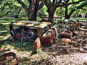 Rusted Cars Digital Art - Graveyard by John Saunders