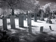 Monotone Photo Prints - Graveyard Print by Terry Reynoldson