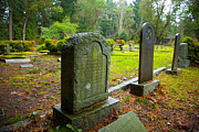 Crag Photo Originals - Graveyard Tombs by Graham Foulkes