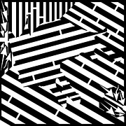Op Art Digital Art Posters - Gravity Induced Cat Nap Maze Poster by Yonatan Frimer Maze Artist