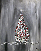 Xmas Painting Originals - Gray Christmas by JRyan Artist
