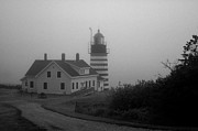 New England Lighthouse Prints - Gray Day in Maine Print by Amanda Kiplinger