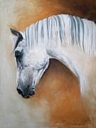 Gray Stallion Xxoo Print by Dorota Kudyba