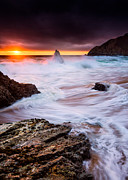 Half Moon Bay Metal Prints - Gray Whale Cove Metal Print by Alexis Birkill