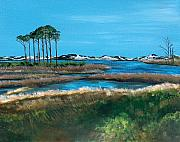 Florida Panhandle Painting Posters - Grayton Beach State Park Poster by Racquel Morgan