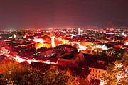 Styria Photos - Graz at Night by Robert Boss