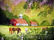Grazing Horse Originals - Grazing by Julia Rietz