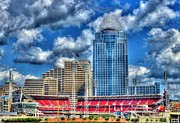 City Scapes Photos - Great American Ballpark by Mel Steinhauer