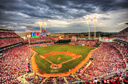 Reds Posters - Great American Ballpark Poster by Shawn Everhart