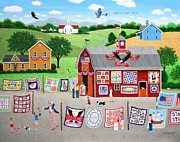Liberty Paintings - Great American Quilt Factory by Wilfrido Limvalencia