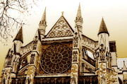 Abbey Greeting Structure Posters - Great Architecture Westminster Abbey Poster by MaryJane Armstrong