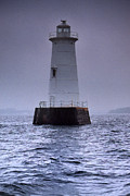Scenic View Posters - Great Beds Lighthouse Poster by Skip Willits