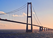 Technical Prints - Great Belt Bridge in Denmark Print by Heiko Koehrer-Wagner