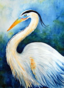 Great Blue Heron Paintings - Great Blue Heron by Sarah Rosedahl