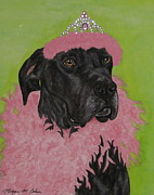 Great Dane Paintings - Great Dane In Drag by Megan Cohen