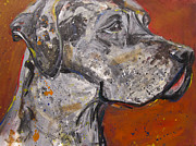 Great Painting Originals - Great Dane by Mary Gallagher-Stout