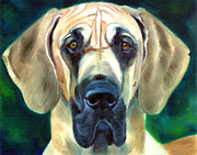Great Dane Portrait Posters - Great Dane Nobility Poster by Lyn Cook